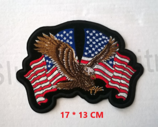 Nášivka Eagle US Flag (C263)